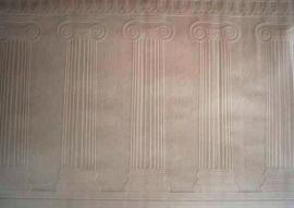 creme beige glitter pilaren zuilen vlies grieks vlies behang 0053
