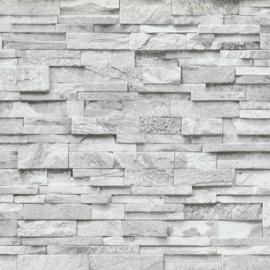 Steen behang grijs 3d  xx10