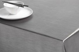 satijn glim tafelzeil tafelkleed grijs taupe ptx11