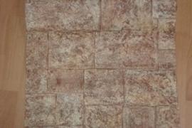 kurk beige bruin vinyl behang tegels  03