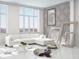 barok behang grijs roze 95372-6