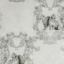 Hermitage luipaard bruin behang Metallic 33543-1