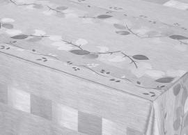 tafelzeil tafelkleed grijs zilver bloemen glim ptx11