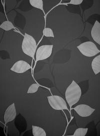 bladeren blad vlies behang grijs zilver 562