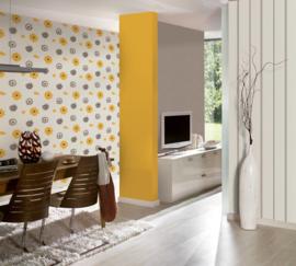 Geel bloemen behang modern 34770-2