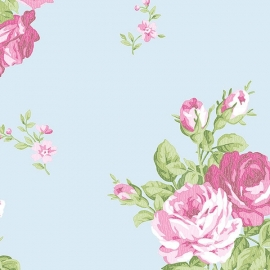 Norwall English Florals bloemen behang G34314