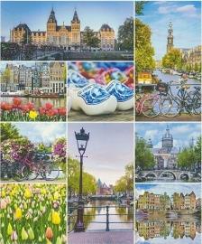 Behang Holland Delftsblauw Rasch Tiles and More 880007