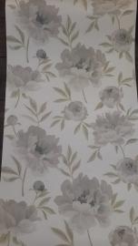 grijs bloemen behang vlies xx1