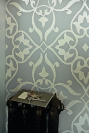 BN Wallcoverings Glamorous 46731 barok grijs glans vlies