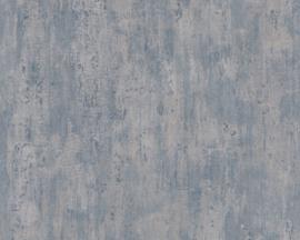 Beton behang blauw metalic 36493-4