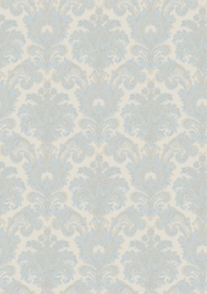 Blauw barok behang 3936