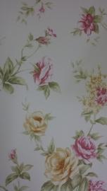 engelse bloemen geel rose behang noordwand 1124