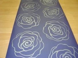 paars zilver  behang bloemen 18