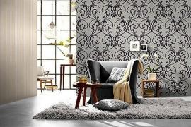 barok behang vlies grijs wit 76