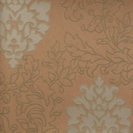 barok vinyl bruin behang 6827-1