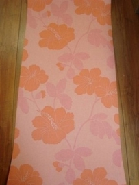 behang roze zalm bloemen trendy opruiming 12