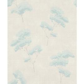 groen bloemen behang 700831