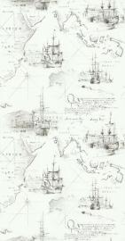 Noordwand Les Aventures 51136809 LANDKAART BEHANG piraten schip