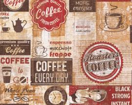 AS Creation Simply Decor Coffee behang 33480-1