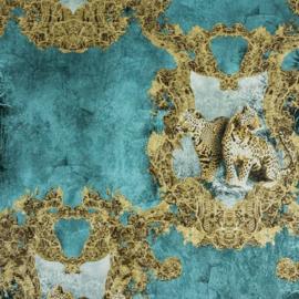 Hermitage luipaard bruin Metallic behang 33543-5