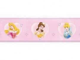 roze geel blauw mooi prinsessen behangrand 40