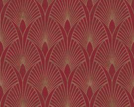 vliesbehang barok rood goud 37427-4