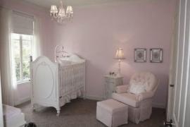 babykamer behang roze effe uni 610628