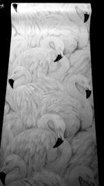 vogel 3d vinyl flamingo behang x23