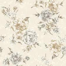 Engelse bloemen behang  98862
