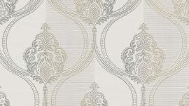 barok behang Erismann Serail beige taupe zilver 6803-37