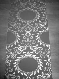 barok vlies behang 3d grijs zilver