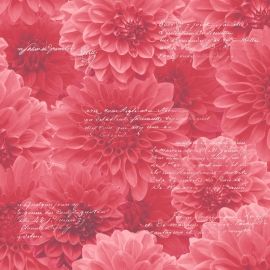 rood bloemen behang 128502