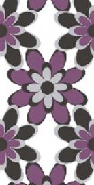 paars grijs wit modern bloemen behang 8830-25