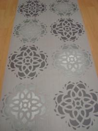 grijs zilver bloemen behang 6