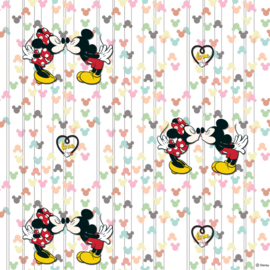 Mickey Mouse & Minnie Kiss behang WPD 9733