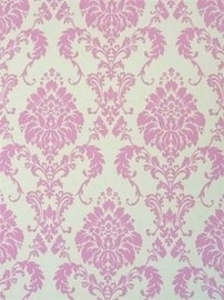 barok behang  roze creme 14