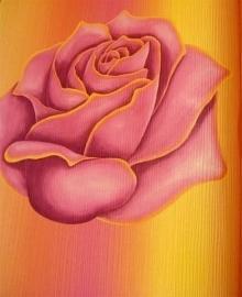 goud rood rozen behang bloemen 12