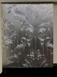Barok behang zilver xx08