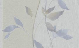 blauw bloemen glitter behang rasch503647