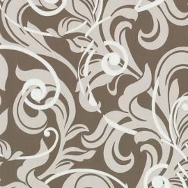 02265-70 bruin modern barok behang