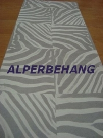 zebraprint vlies behang wit zilver 566