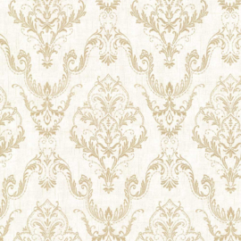 Behang Dutch Wallcoverings Avalon ornament creme/goud 21447