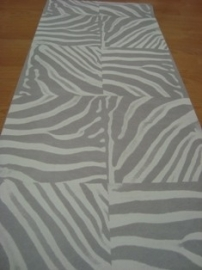 grijs wit zebraprint dierenprint behang 42