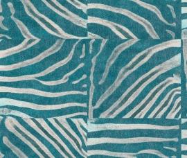 Rasch Popskin behang 498509 Zebra dierenprint