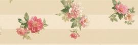 bloemen behangrand rose goud xx778