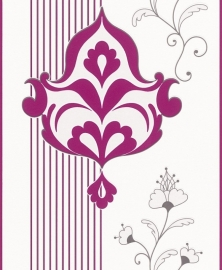 barok roze wit behang Rasch Brooklyn 773583