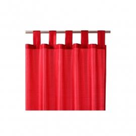 Rood satijn gordijn - 140 x 240 cm