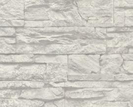 707116 grijs steen vlies behang