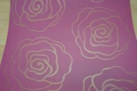 paars goud rozen behang bloemen 24
