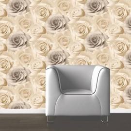 bloemen rozen behang 119504